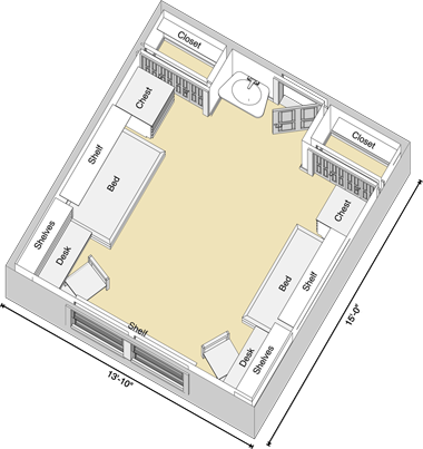 Fixed Furniture Floor Plan