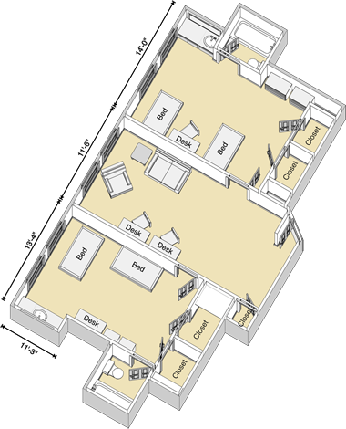 Gordon Suite Floor Plan